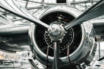 Metallic airplane propeller Wall mural