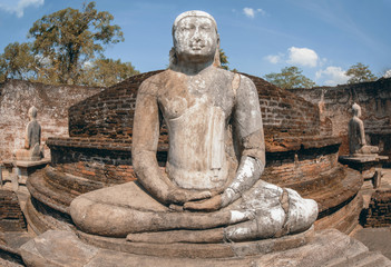 Polonnaruwa  Ancient Vatadage Which Is An Ancient Structure Built For Hold The Tooth Relic Of The Buddha