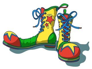 Clown's Shoes, cartoon vector illustration