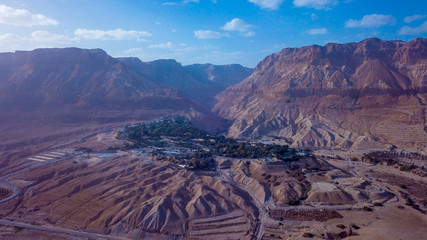Brown Mountains near the Dead Sea Coastline, Israel