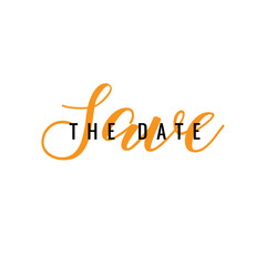 Save The Date Typography Template
