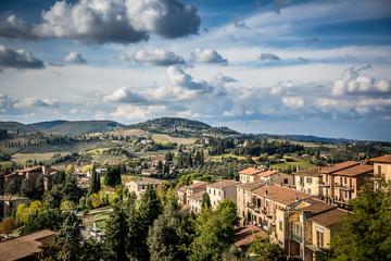 Beautiful autumn landscape in Tuscany. Near San Gimignano, Tuscany, Italy