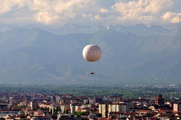 Blick über Turin von der Kuppel des Filmmuseums
