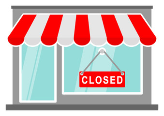 gz365 GrafikZeichnung - snms3 SignNewMarketShop snms - english - store / shop awning sign: closed sign / red / market (bankruptcy) - colourful simple template - DIN A3, A4 - xxl g7303