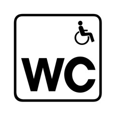 Disabled toilet restroom symbol icon