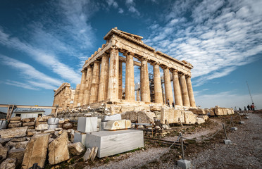 Fototapete - Parthenon on the Acropolis of Athens, Greece