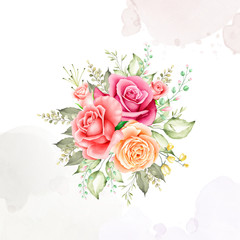 beautiful watercolor floral bouquet and frame collection