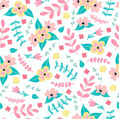 Seamless pattern background with flowers.Seamless ditsy floral pattern.