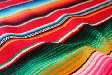 Mexican poncho cinco de mayo mexico blanket rug background  traditional poncho fiesta background with stripes stock, photo, photograph, image, picture