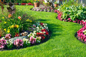 Stores photo Jardin Beautiful home garden in full bloom
