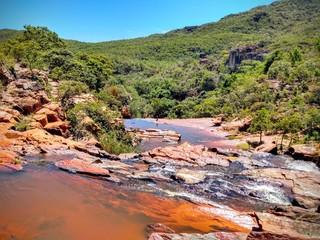 Photo sur Toile Rivière de la forêt river in the mountains