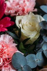 Rose .Fragment of floral bouquet