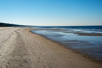 empty sandy beach by the sea