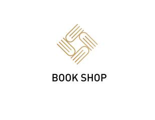 Creative rhombus logo for the book shop