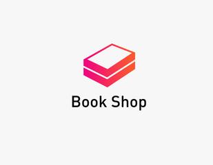 Creative logo silhouette of book tick