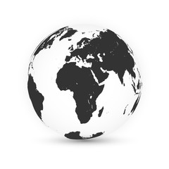 Wall Mural - Earth globe. World map set. Planet with continents. Vector Illustration