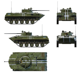 Wall Mural - 3d-renders of BMD-2 of Armed Forces of Ukraine.