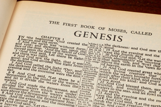 Genesis 1 In The Beginning From Old Bible