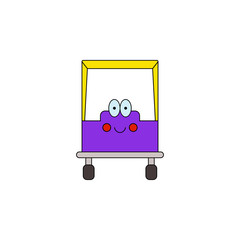 cartoon car smile toy colored icon. Signs and symbols can be used for web, logo, mobile app, UI, UX
