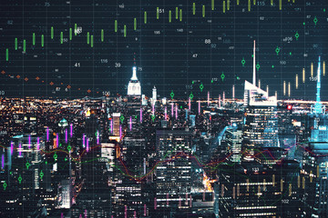 New York city with forex wallpaper