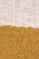 Buckwheat on light cloth, half