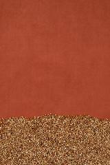 Buckwheat  on terra-cotta cloth