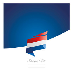 New abstract Netherlands flag origami blue background vector