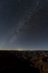Milky way over grand canyon