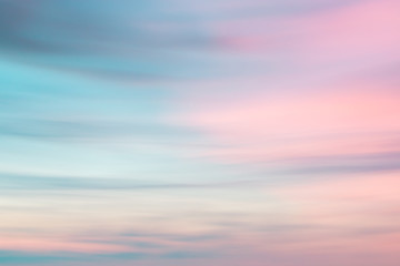 Defocused sunset sky  natural background Fotobehang