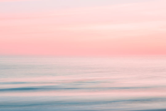 Abstract blurred sunrise sky and  ocean nature background