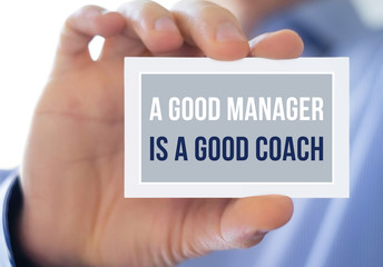 A good manager is a good coach