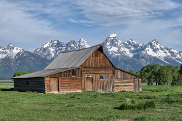 old wooden house in the Tetons
