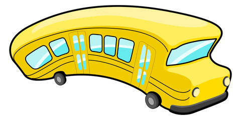 Isolated cartoon bus image. Public transport. Vector illustration design