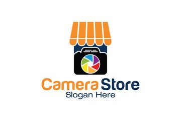 Camera Photography Shop Store Market Logo Icon Vector Template
