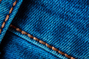 Denim texture with outer seams.