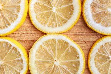 Fresh juicy lemon. Can be used as a poster or background for design.