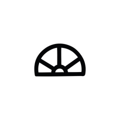 protractor math equipment icon