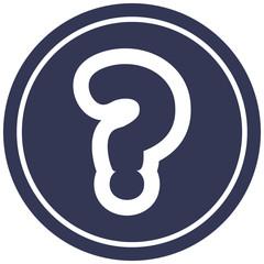 question mark circular icon