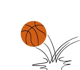 basketball ball bouncing. isolated on white background. illustration