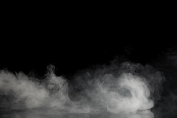 Abstract Smoke on black Background Wall mural