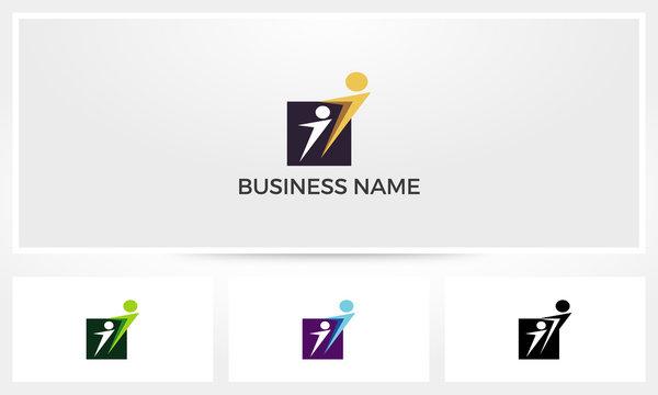 Lead Follow Abstract Logo