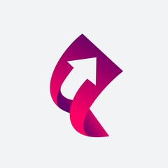 Growth Income with Up Arrow Logo Template