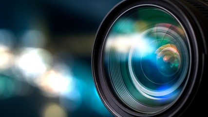 A lente da câmera