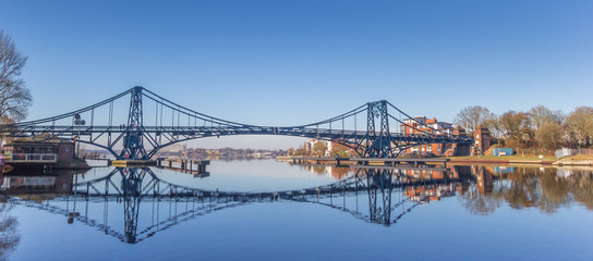 Panorama of the Kaiser Wilhelm bridge over the Ems-Jade-Kanal in Wilhelmshaven