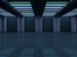 Abstract modern architecture background. 3D rendering