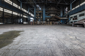 Spoed Foto op Canvas Oude verlaten gebouwen abandoned old industrial steel factory