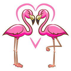 Flamingo vector cartoon