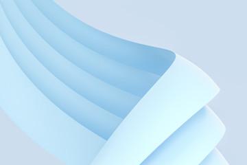 blue curve pattern, 3d rendering