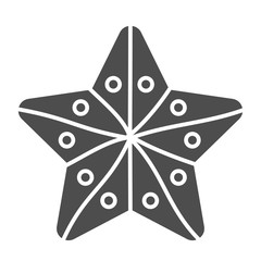 Starfish solid icon. Aquatic vector illustration isolated on white. Beach glyph style design, designed for web and app. Eps 10.