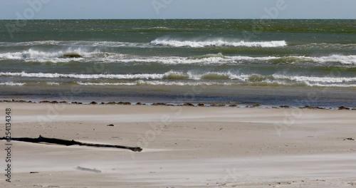 Windy surf Gulf of Mexico Texas beach surf  Beautiful southern Texas